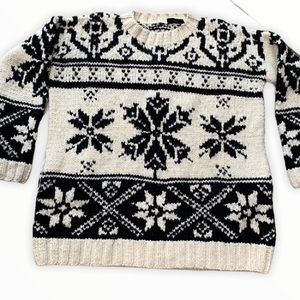 JOSEPH Fair Isle Sweater HAND KNIT WOOL